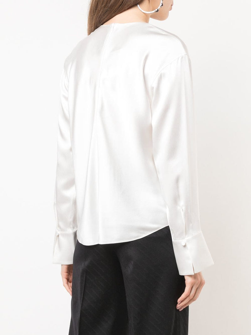 Alexander Wang Blouse with Chain Fringed Scarf