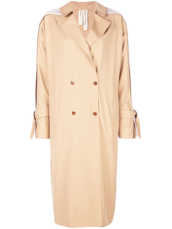 Bodice Trench Coat with Pleated Sleeves
