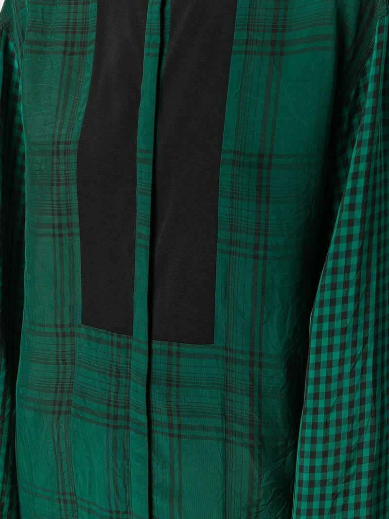 Haider Ackermann Long Checkered Green Tunic