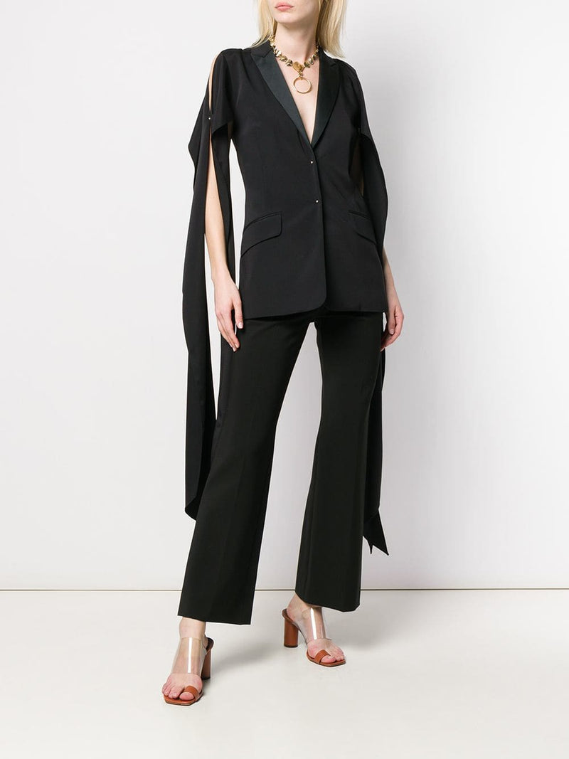 Esteban Cortezar Draped Sleeve Tuxedo Jacket