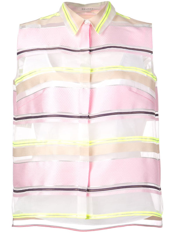 Delpozo Striped Organza Shirt
