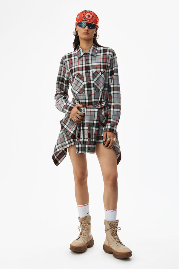 Alexander Wang Tie Front Shirtdress