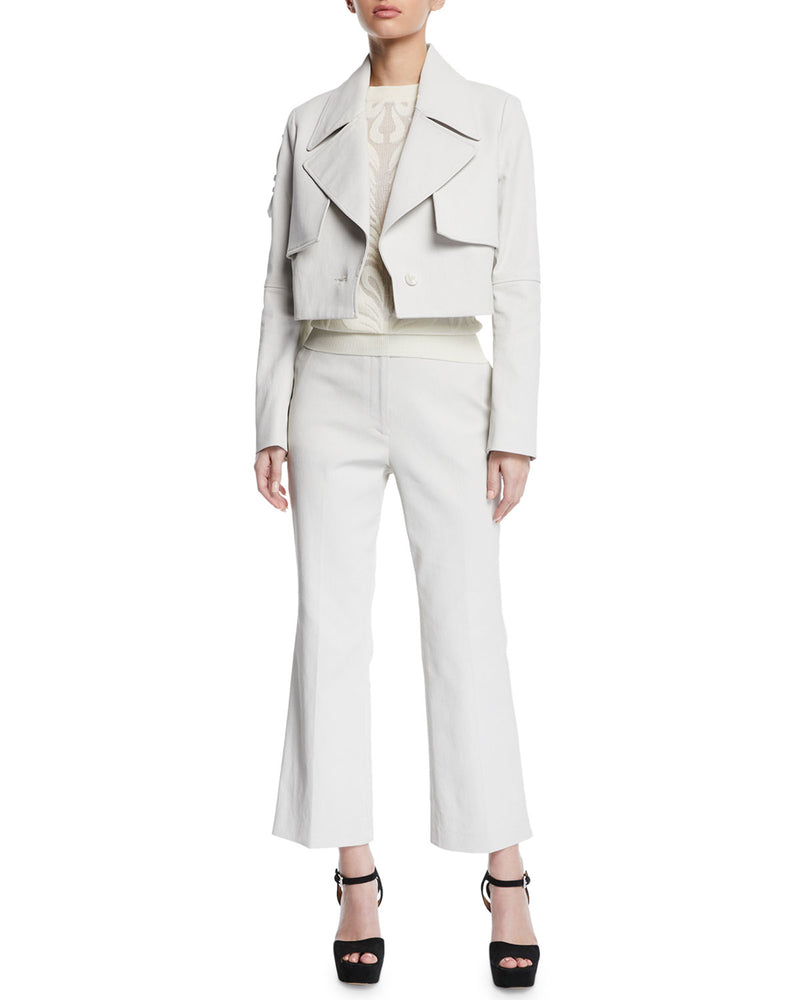 Partow Bailey Cropped Trench Jacket