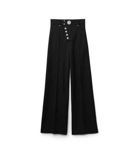 Alexander Wang Wide Leg Trouser w/Snap Detail