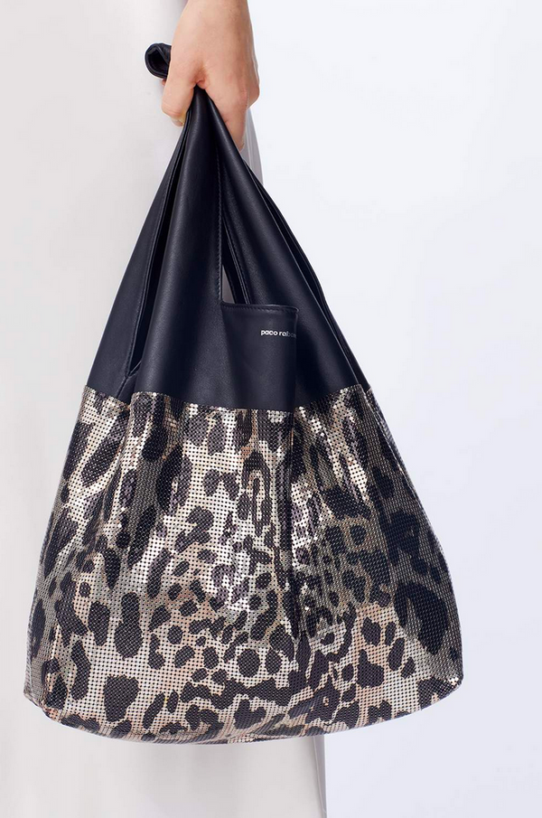 Paco Rabanne Leopard Chain Mail  Bag