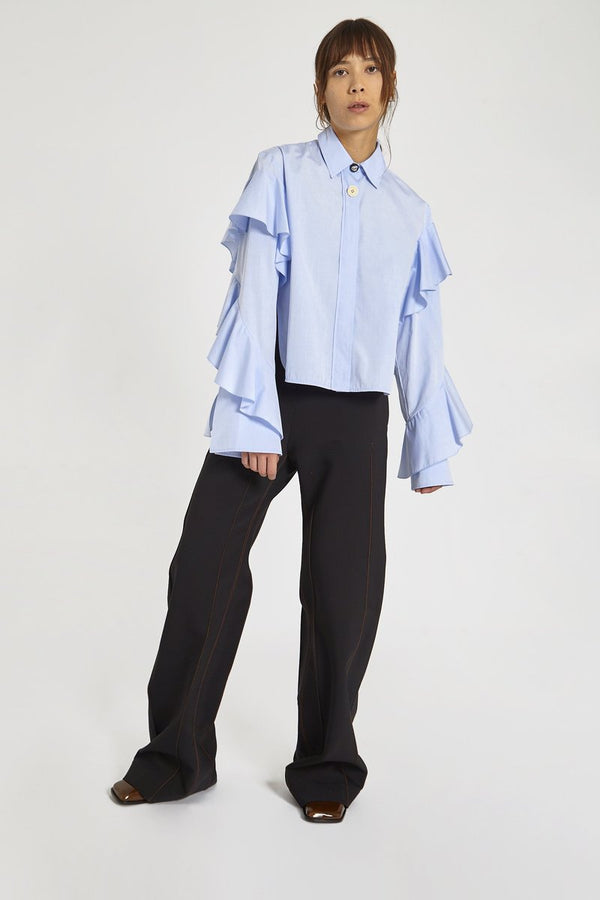 Ellery Voltaire Frill Sleeve Shirt