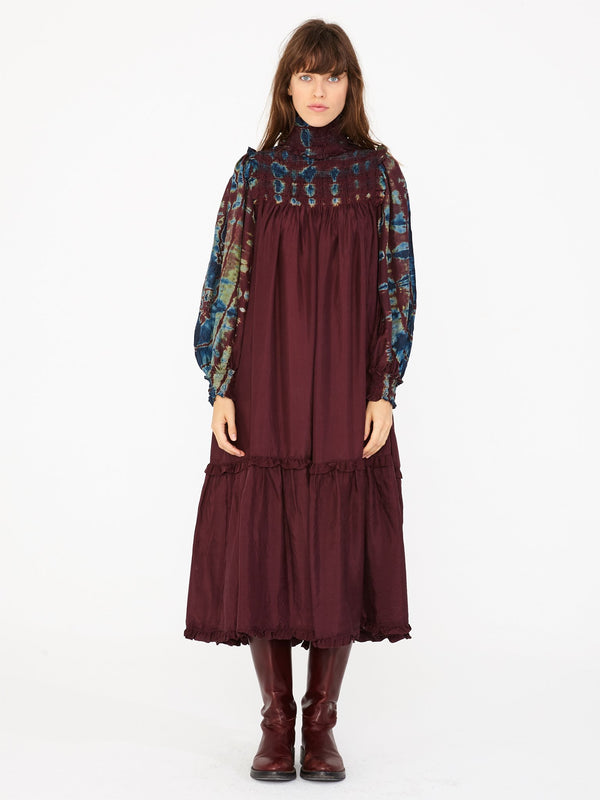 Raquel Allegra Tie Dye Victorian Dress