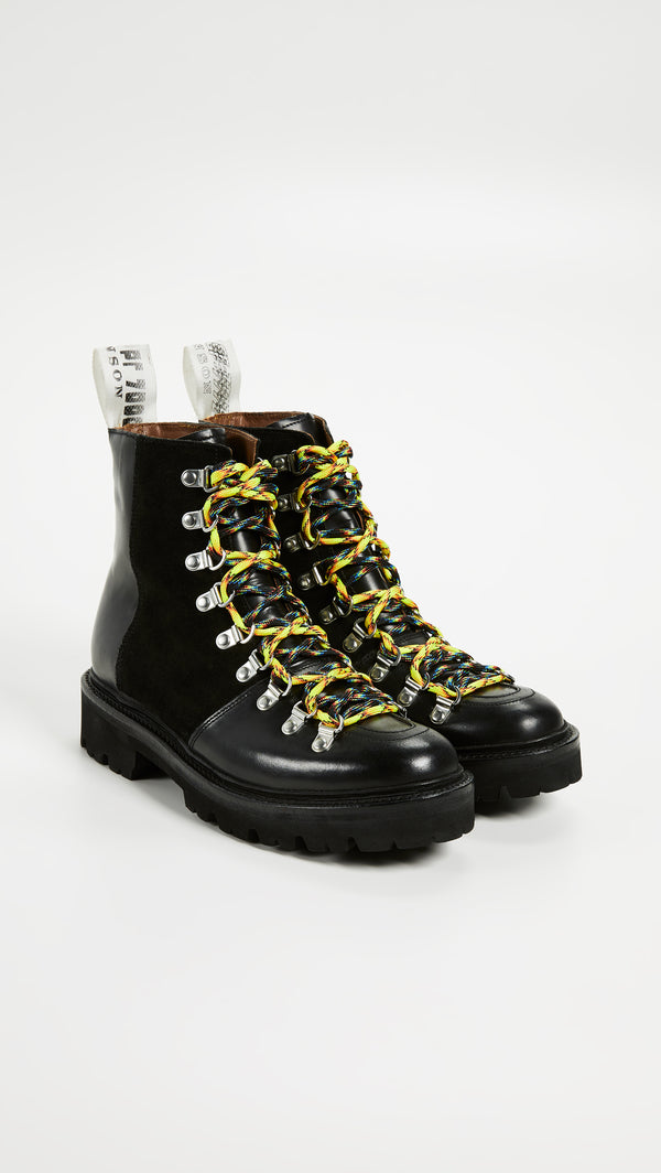 House of Holland Leather Vivid Hiking Boot