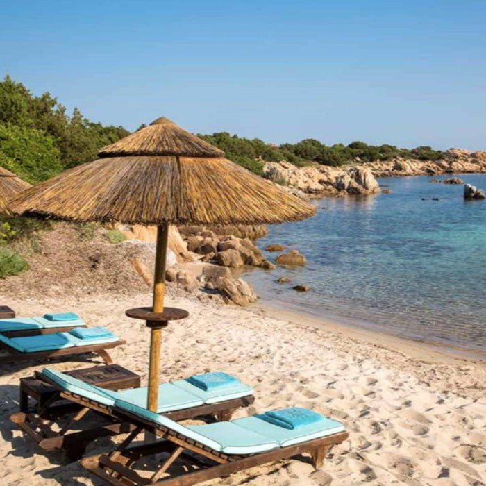 private beach and cove in Sardinia
