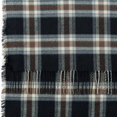 Black/Grey/Brown Plaid Wrap Blanket Scarf - rockflowerpaper LLC