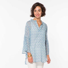 Michelle Blue Bell Sleeve Tunic