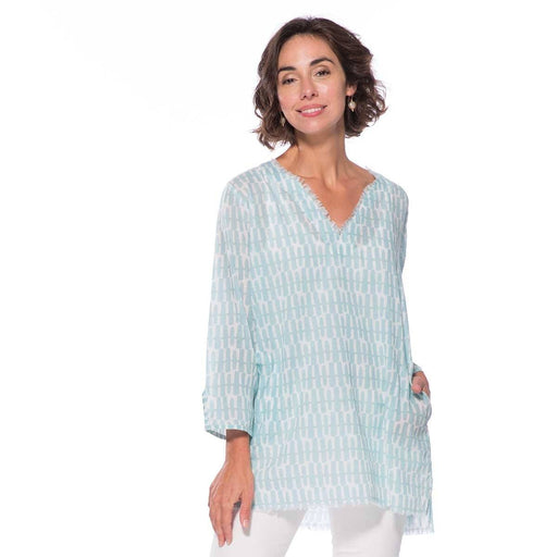 Rita Ocean Cotton Pocket Tunic - rockflowerpaper LLC