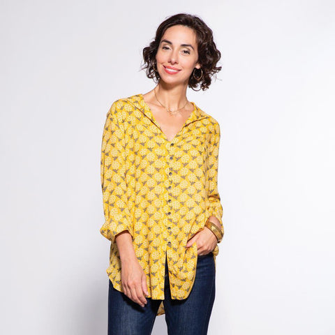Eliza Gold Ayana Relaxed Collar Button Down Tunic