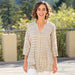 Bianca Grey blu Cotton Pintuck Tunic - rockflowerpaper LLC