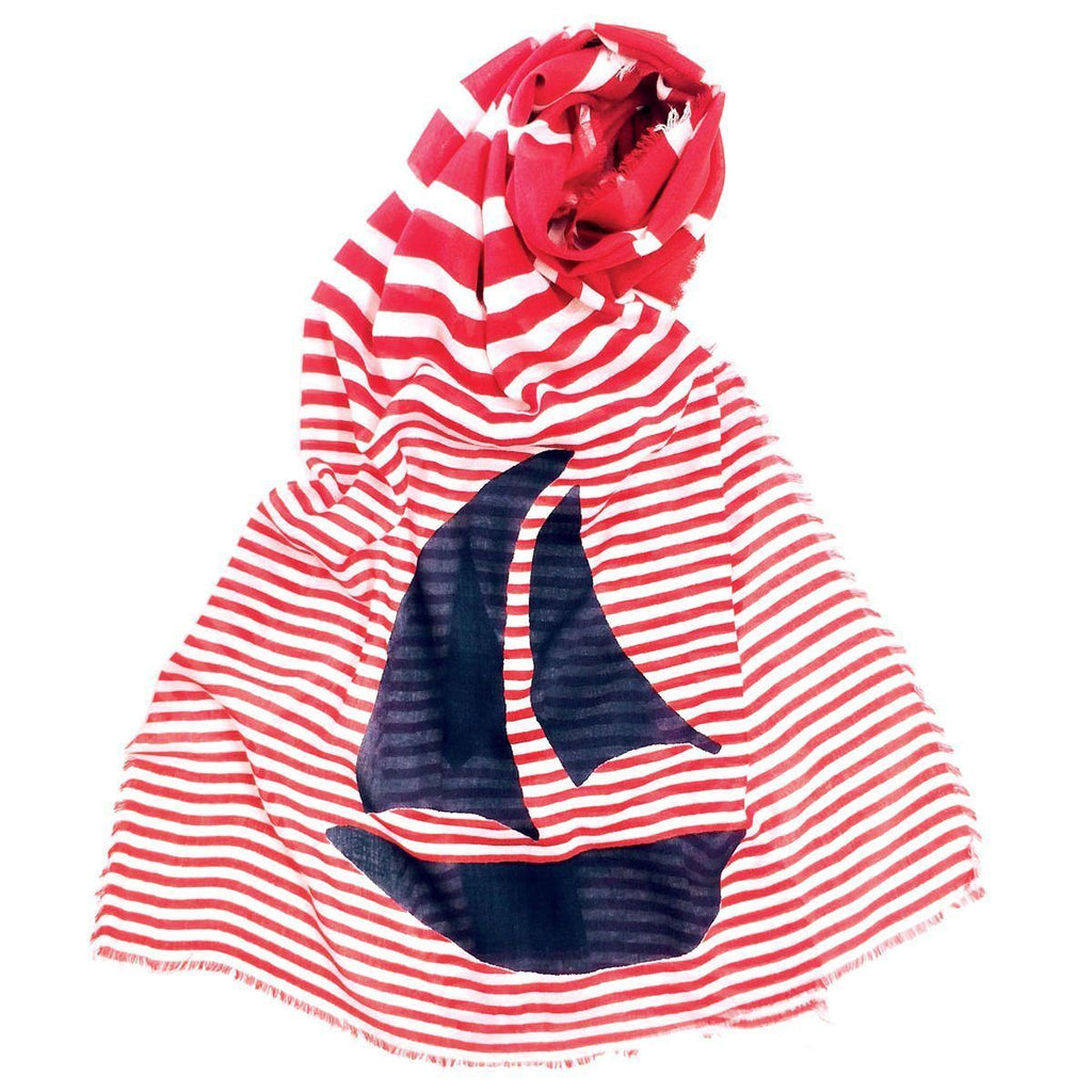 Seaside Sailboats Scarf - rockflowerpaper LLC
