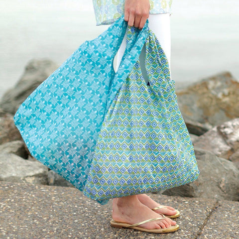 Sea Turtle Ocean Blu Bag Reusable Shopping Bag - rockflowerpaper LLC