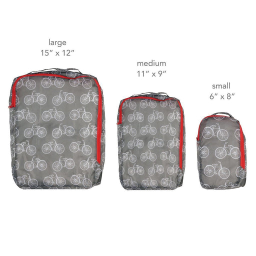 Summer Bikes Blu Bag Travel Cubes - Set of Three - rockflowerpaper LLC