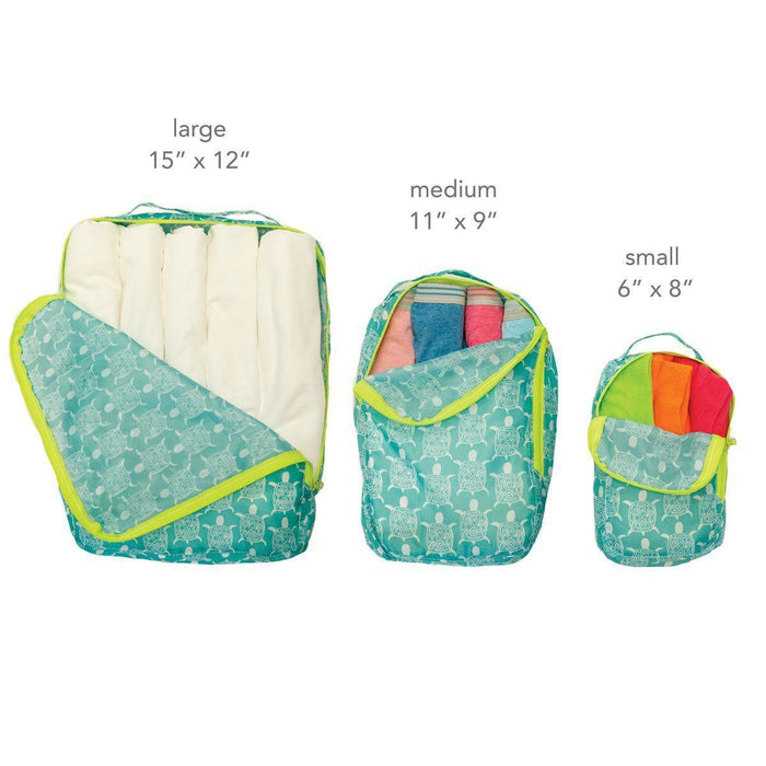 Sea Turtle Blu Bag Travel Cubes - Set of Three - rockflowerpaper LLC