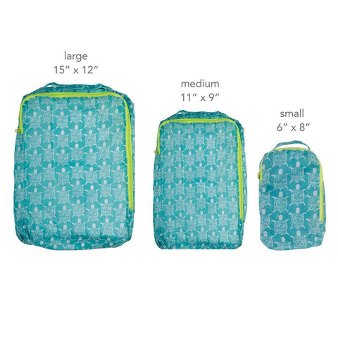 Sea Turtle Blu Bag Travel Organizer Set of Three - rockflowerpaper LLC