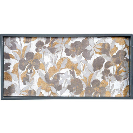 Winter Garden 10 x 20 Rectangular Lacquer Art Serving Tray - rockflowerpaper LLC