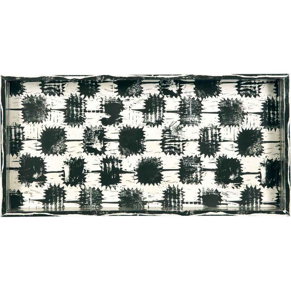 Dominique Neutral 10 X 20 Inch Rectangular Lacquer Art Serving Tray