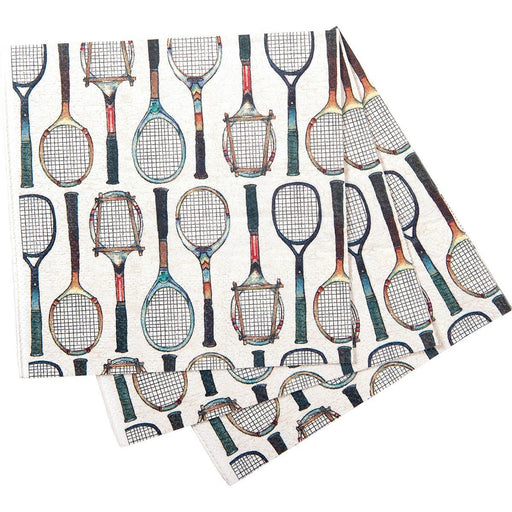 Tennis Racket Printed Paper Cocktail Napkin - rockflowerpaper LLC