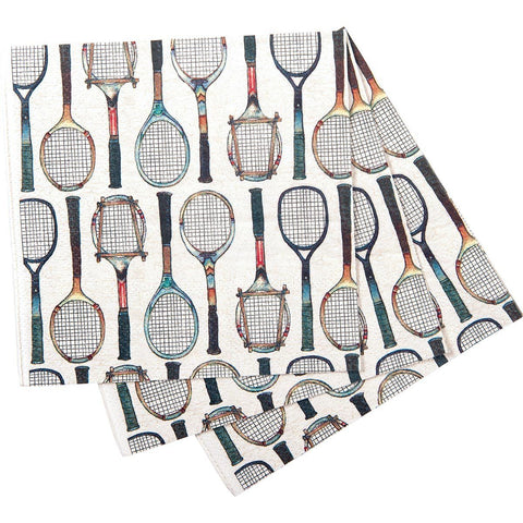 Tennis Racket Printed Paper Cocktail Napkin