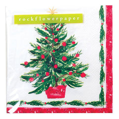 Christmas Tree Cocktail Napkin - rockflowerpaper LLC