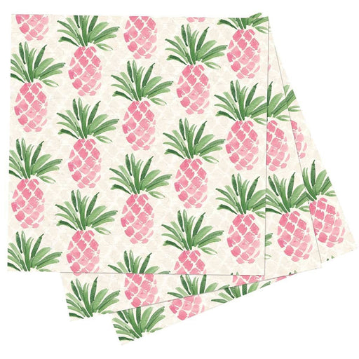 Pink Pineapple Printed Paper Cocktail Napkins - rockflowerpaper LLC