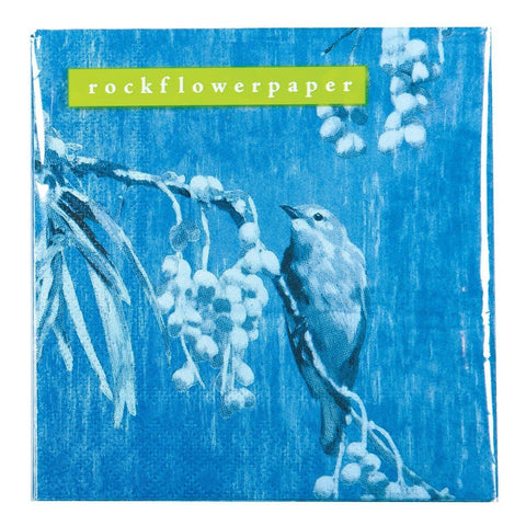 Chintz Bird Cocktail Napkin - rockflowerpaper LLC