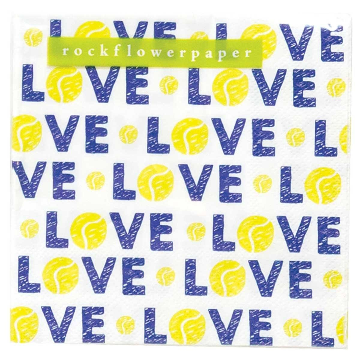Tennis Love Printed Paper Cocktail Napkins