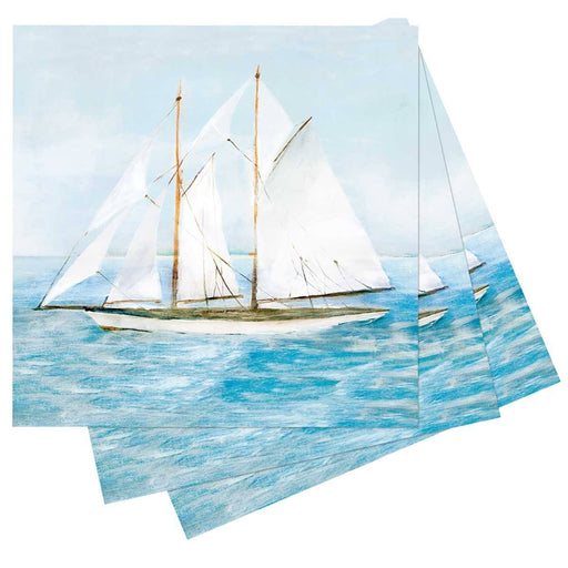 Summer Sail Printed Paper Cocktail Napkins - rockflowerpaper LLC