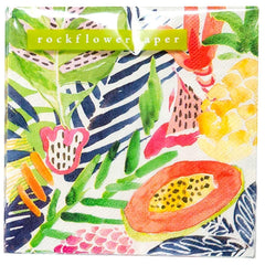 Tropics Printed Paper Cocktail Napkins