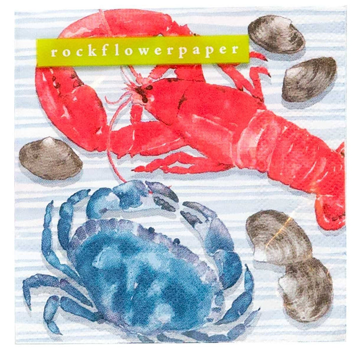 Coastal Catch Printed Paper Cocktail Napkins - rockflowerpaper LLC