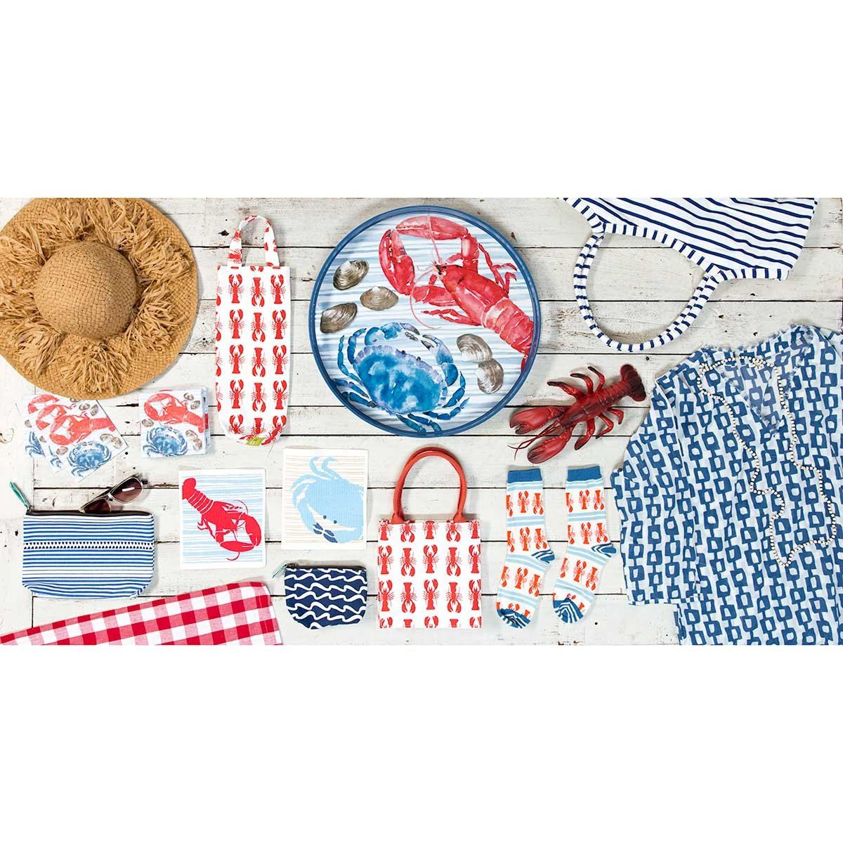 Coastal Catch Printed Paper Cocktail Napkins