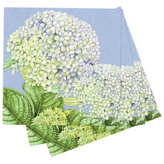 Hydrangea Printed Paper Cocktail Napkins