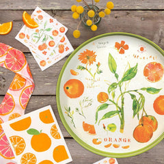 Oranges Orange Printed Paper Napkins