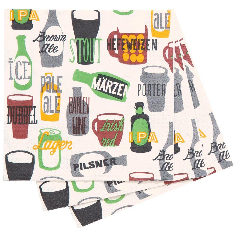 Beer Green Printed Paper Napkins