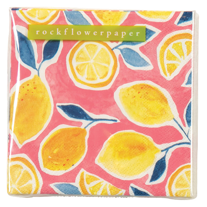 Lemons Cocktail Napkins - rockflowerpaper LLC