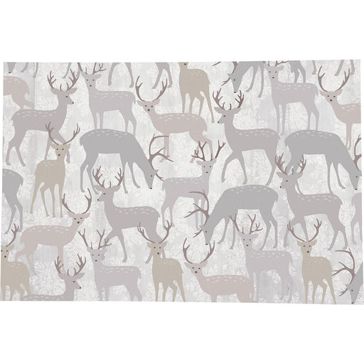 Winter Stags Grey Printed Paper Placemats (30 per Pad) - rockflowerpaper LLC