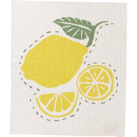Lemons Eco Friendly Blu Dish Cloths - Set of Two
