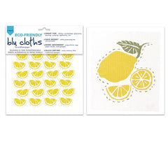 Limone Yellow Eco Friendly Blu Dish Cloths - Set Of Two