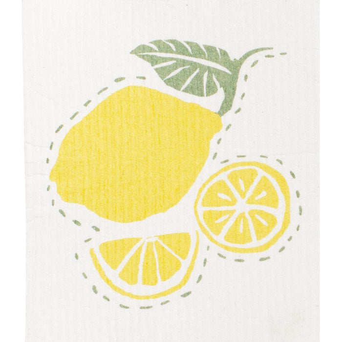 Limone Yellow Eco Friendly Blu Dish Cloths - Set Of Two - rockflowerpaper LLC