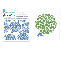 Hortensia Blue Eco Friendly Blu Dish Cloths - Set Of Two