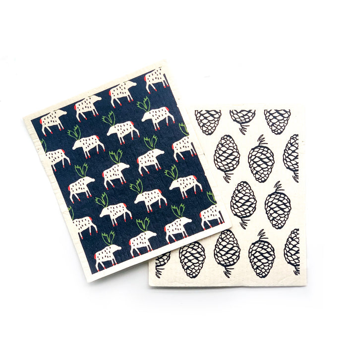 Lodge Eco-Friendly blu Cloths - Set of 2