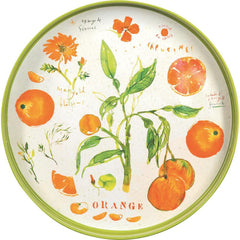 Oranges Orange 15 Inch Round Lacquer Serving Tray