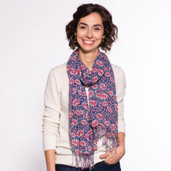 Madeline Berry Featherweight Tassel Scarf
