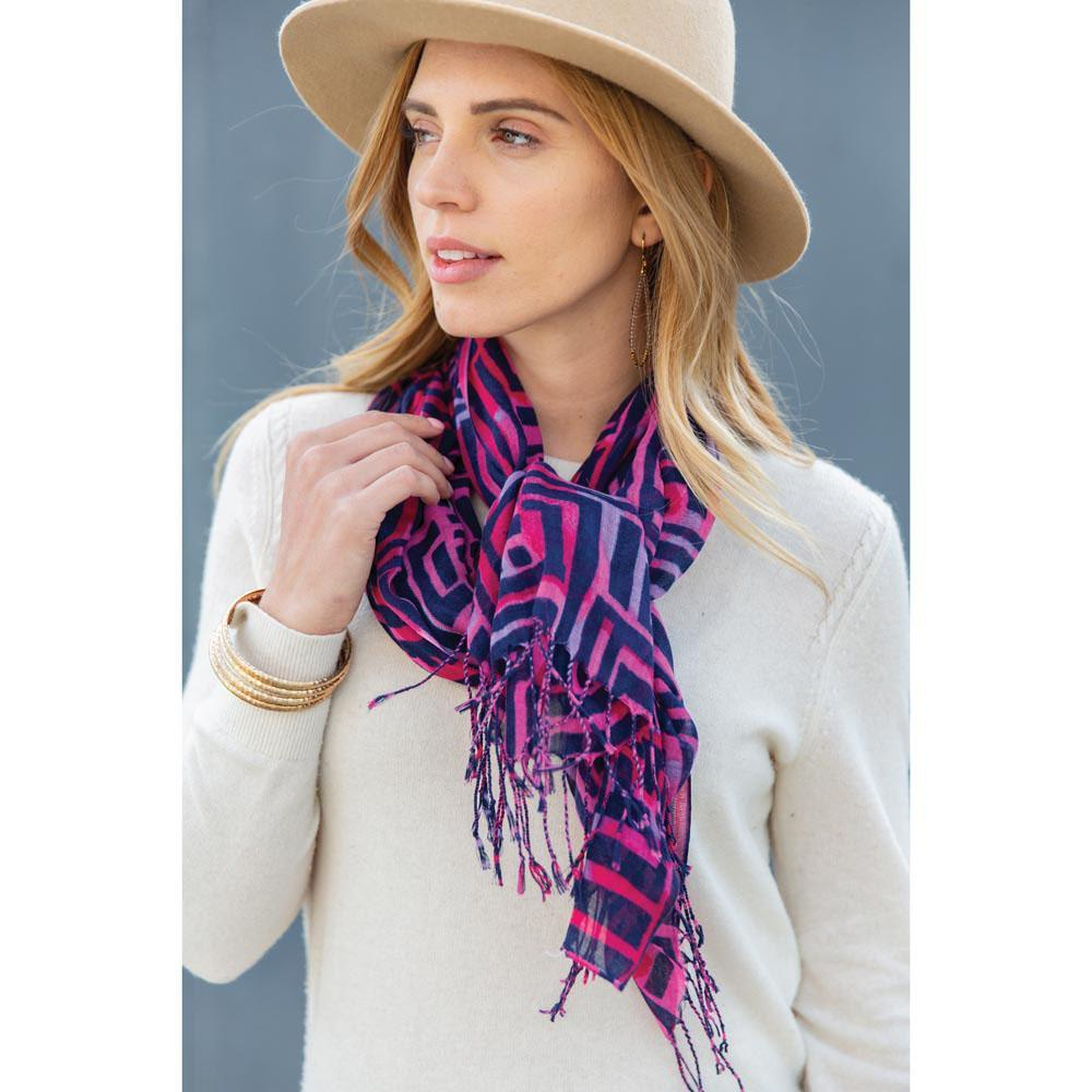 Blair Berry Featherweight Tassel Scarf