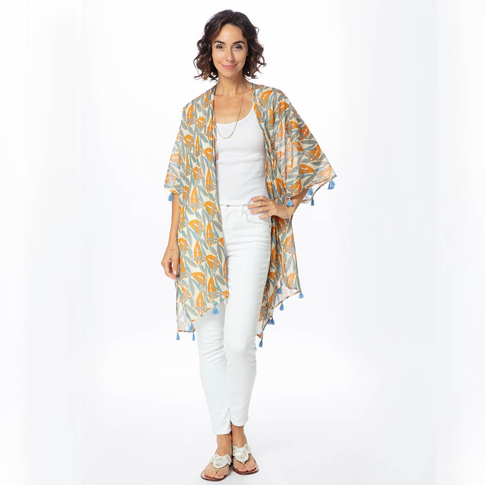 Lilith Grey Recycled Cotton Kimono Coverup