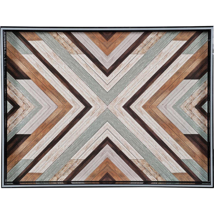 Reclaimed Wood 15 x 20 inch Rectangular Lacquer Art Serving Tray - rockflowerpaper LLC